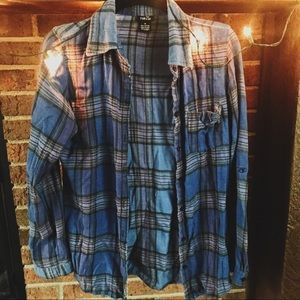 Comfy Casual Blue Flannel Rue21 Fall Hipster